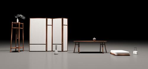 """本届""""新意思""""新中式红木家具设计展作品《忆·欣》"""