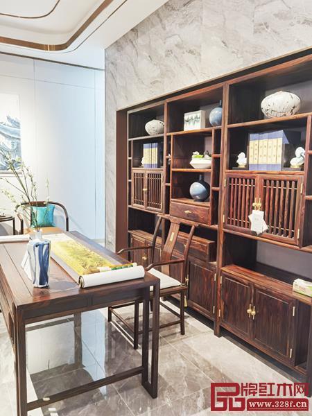 闲适红木旗舰店涵盖全屋空间,产品丰富齐全