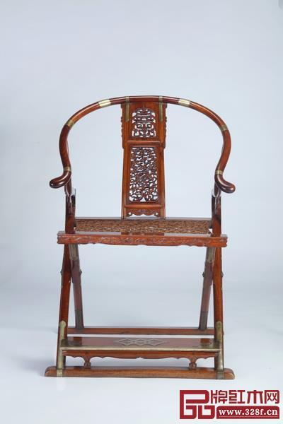 黄花梨麒麟纹交椅