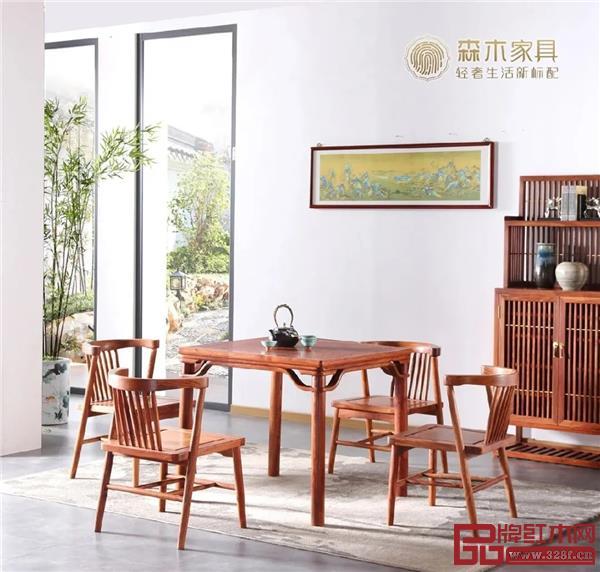森木家具·八仙桌(尺寸cm:长88宽88高78.5)