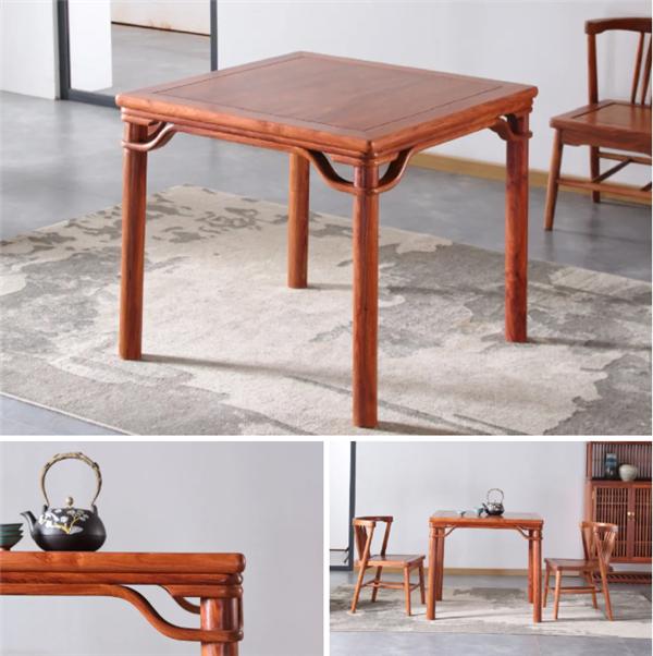 森木家具八仙桌整体造型简洁利落