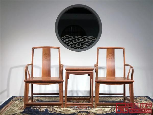 红桥红·缅花扇形官帽椅(白茬)