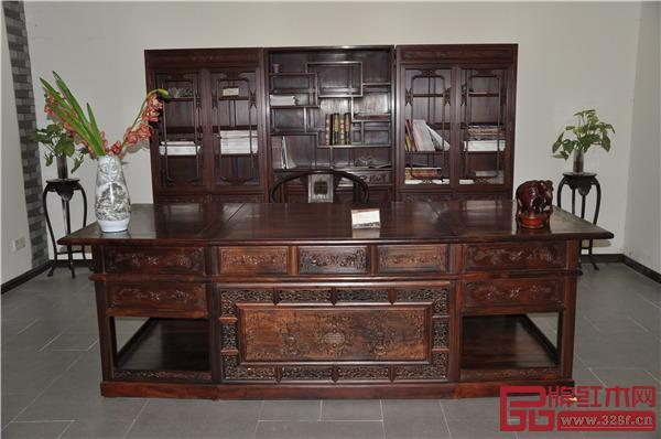 万盛宇红木:老板台