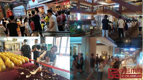 国庆期间,红博城活动丰富吸引市民前来参观选购(图片来源红博城)
