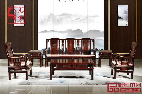 鸿乾堂红木:阔叶黄檀明式沙发