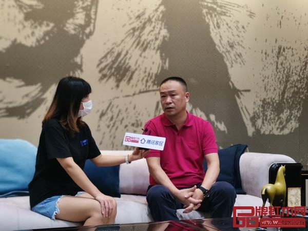 恒达木业董事长陈国良接受腾讯家居红木频道专访
