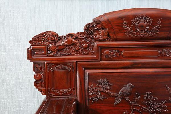 材美艺精,古森红木红酸枝家具深受消费者好评