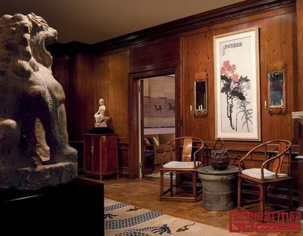 著名收藏家安思远位于纽约第五大道的公寓收藏着许多明清红木家具