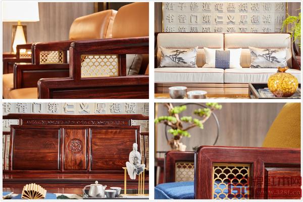 顺泰轩·书香门第注重产品细节,打造精工艺、高颜值新中式红木家具
