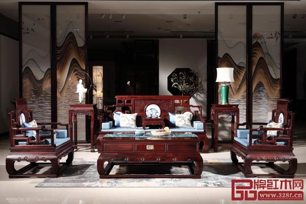 喜迎红红木家具使用水性漆,更健康环保