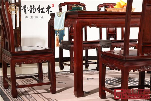 清韵红木:国色天香餐桌