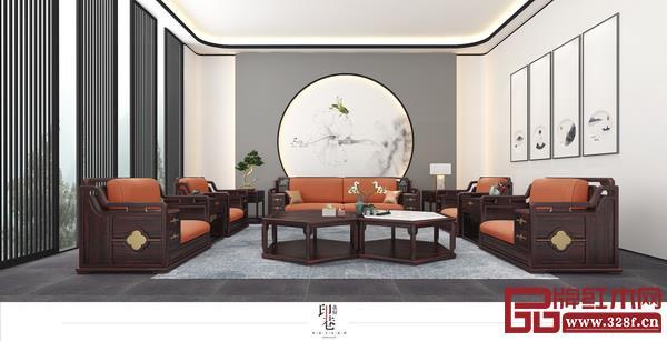 印巷森刻明星新中式爆款产品——《观墅沙发》